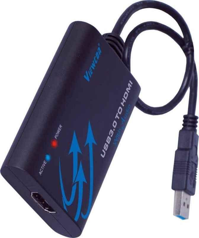 PremiumCord USB 3.0 adaptér na HDMI se zvukem - khcon-08