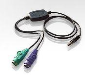 ATEN USB konvertor na 2xPS/2, kl.+myš, kabelový