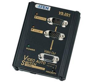 ATEN Elektronický VGA přepínač 2:1 s prioritou - VS-201