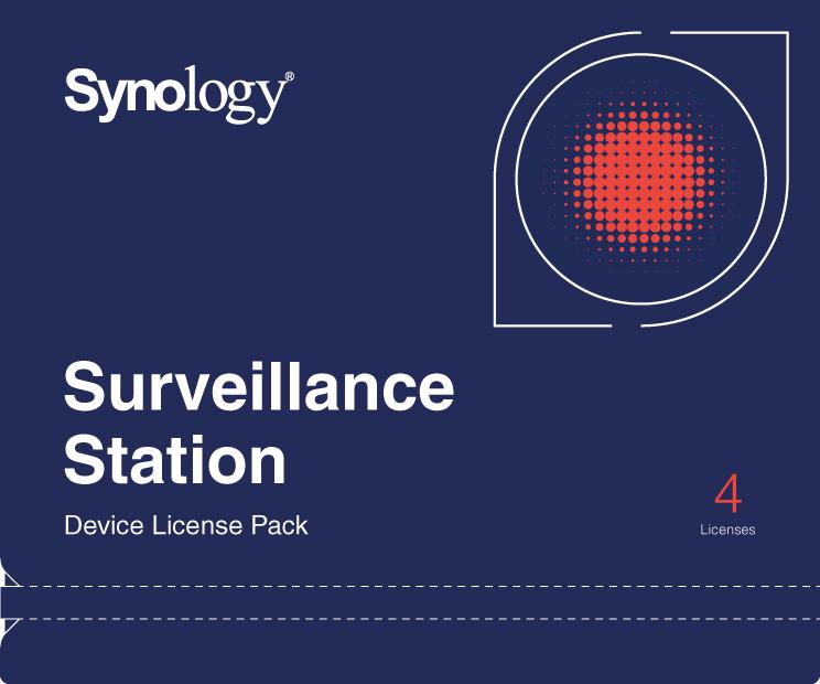 Synology DEVICE LICENSE (X 4) - kamerová licence - DEVICE LICENSE (X 4)