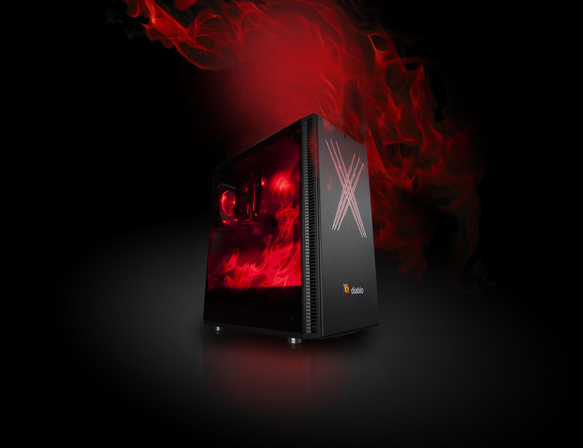 AKCE X-DIABLO Gamer X56 3060 (R5 5600X/16GB/SSD 1000GB NVME/RTX3060/W10/Wifi/LED/KB+M) - 11554311