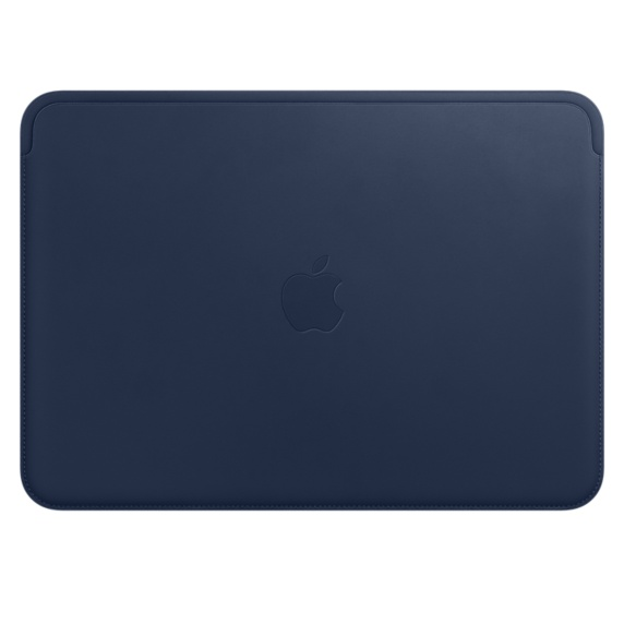 Leather Sleeve pro MacBook 12 - Midnight Blue
