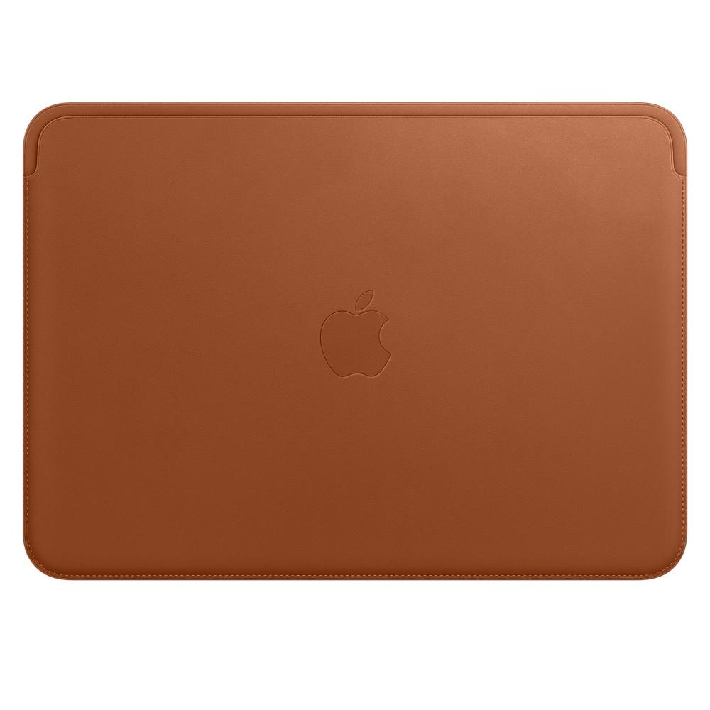 Leather Sleeve pro MacBook 12 - Saddle Brown