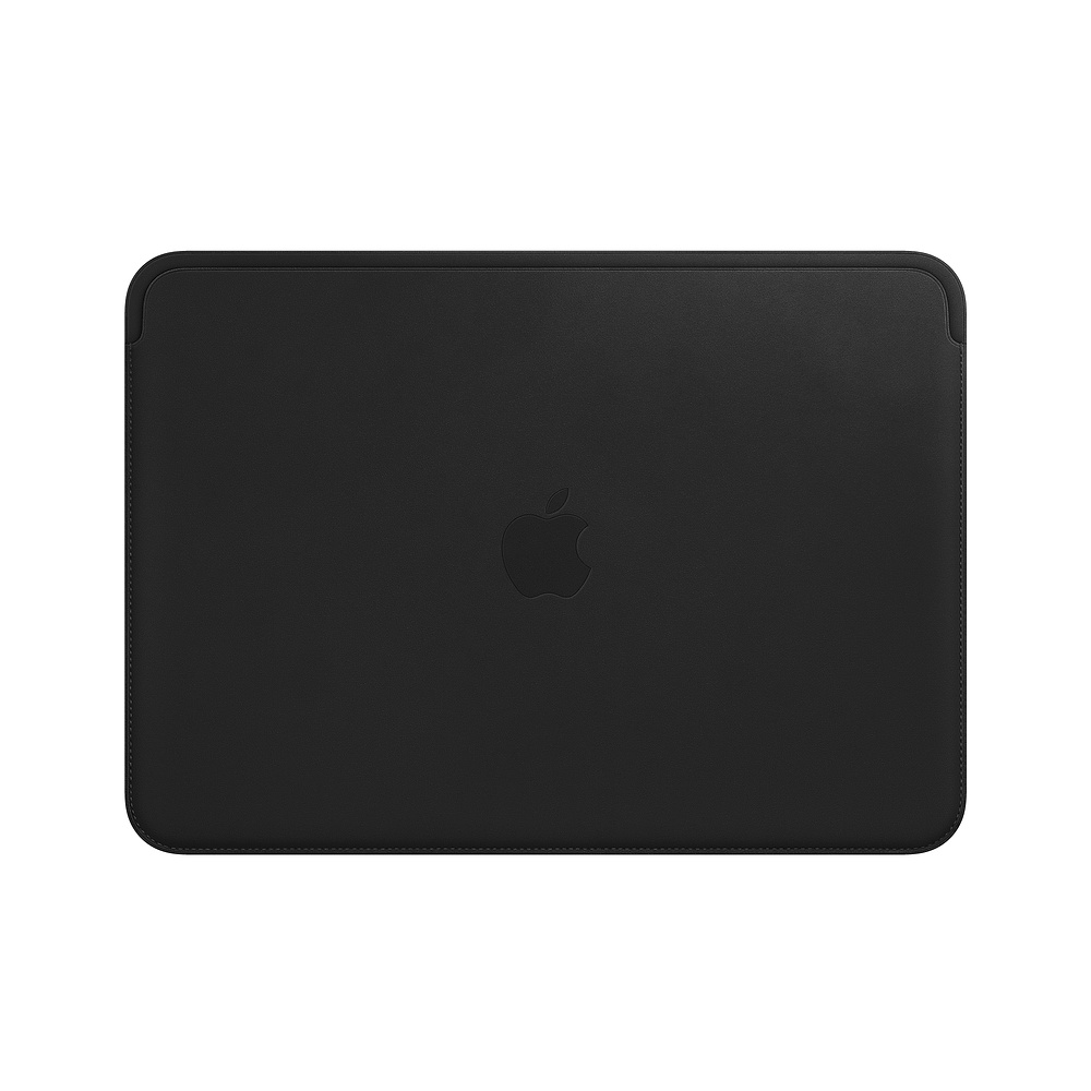 Leather Sleeve pro MacBook 12 - Black