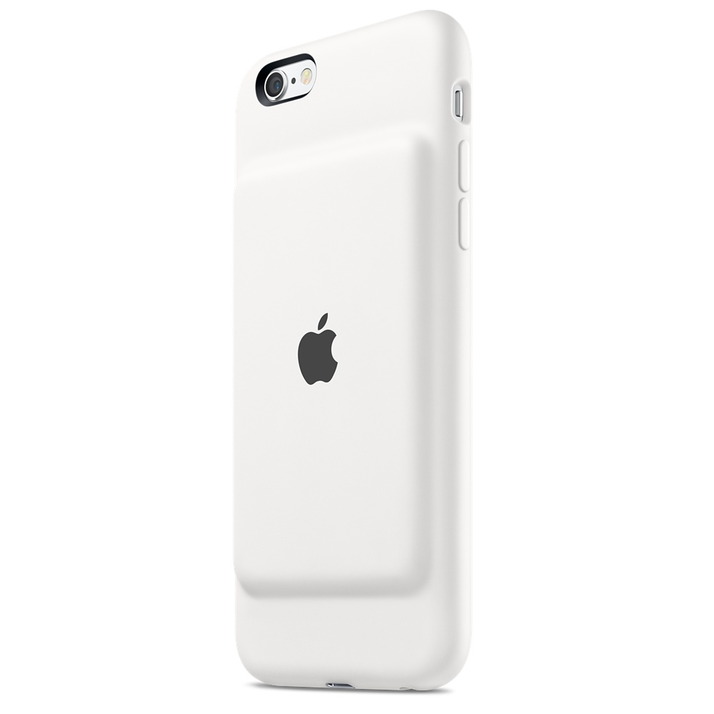 iPhone 6s Smart Battery Case Charcoal White
