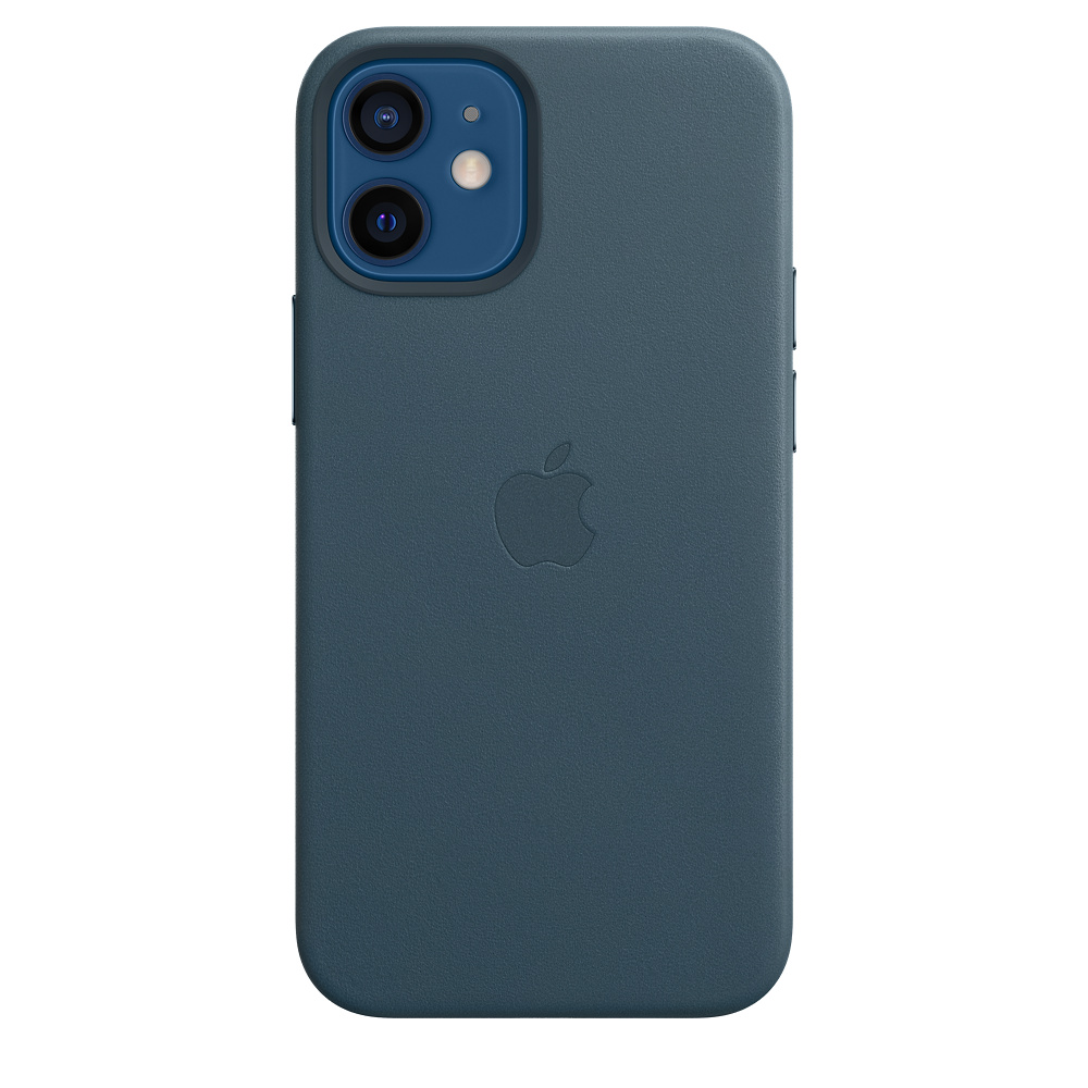 iPhone 12 mini Leather Case with MagSafe B.Blue - MHK83ZM/A