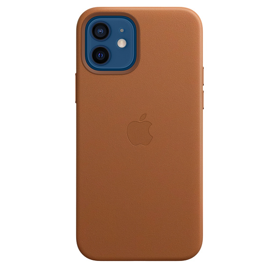 iPhone 12/12 Pro Leather Case with MagSafe S.Brown - MHKF3ZM/A