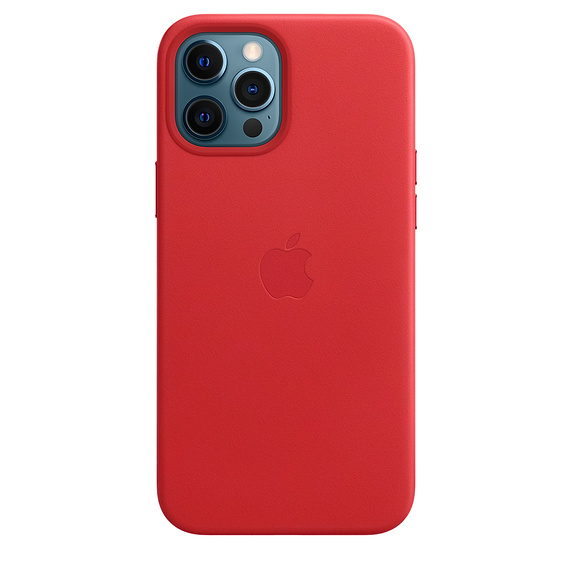 iPhone 12 Pro Max Leather Case wth MagSafe (P.)RED - MHKJ3ZM/A