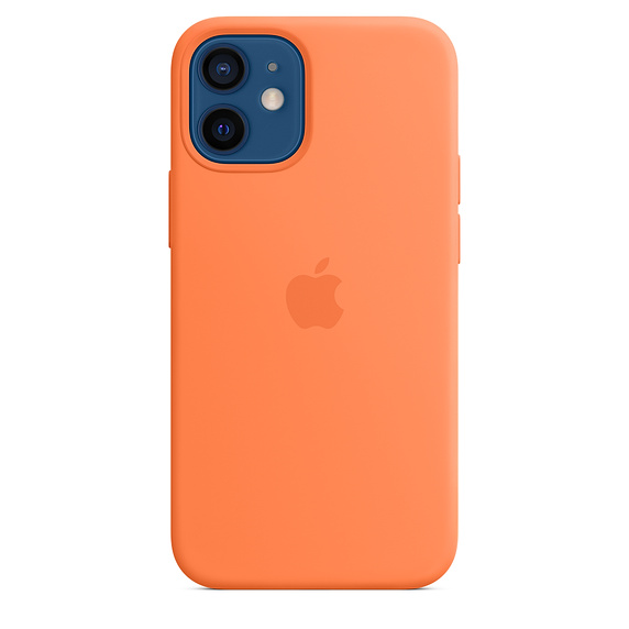 iPhone 12 mini Silicone Case with MagSafe Kumquat - MHKN3ZM/A