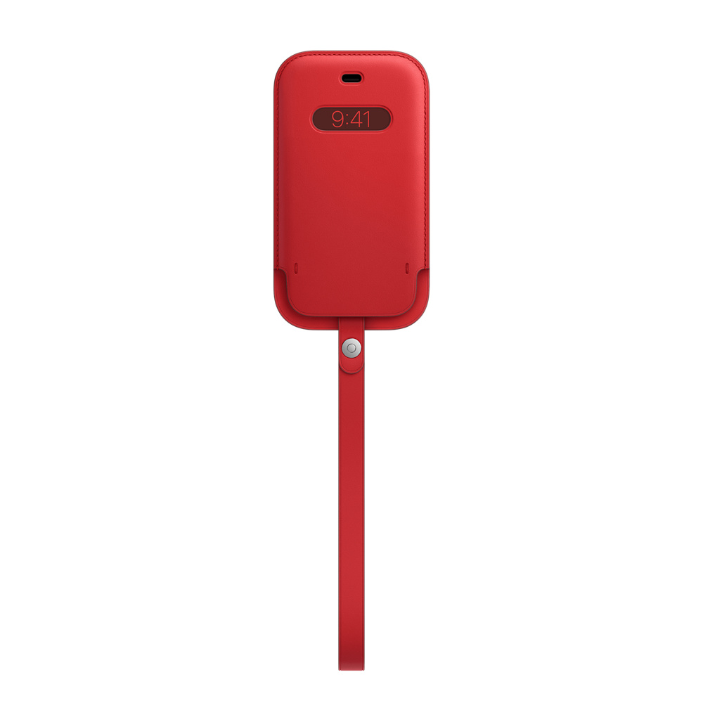 iPhone 12 mini Leather Sleeve wth MagSafe RED - MHMR3ZM/A