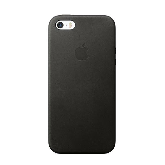 iPhone SE Leather Case - Black