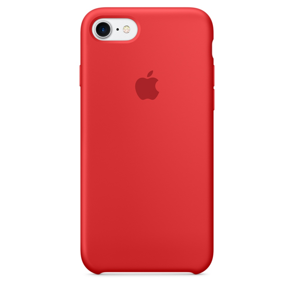 iPhone 7 Silicone Case - Red