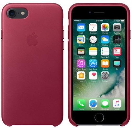 iPhone 7 Leather Case - Berry