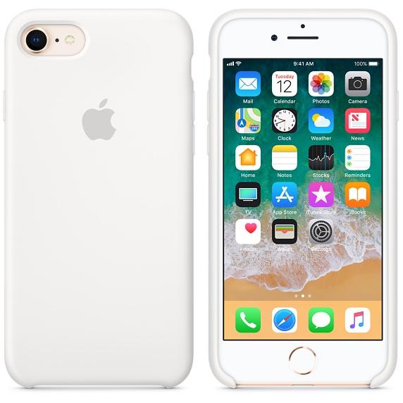 iPhone 8 / 7 Silicone Case - White