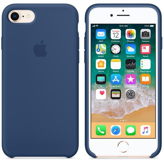 iPhone 8 / 7 Silicone Case - Blue Cobalt
