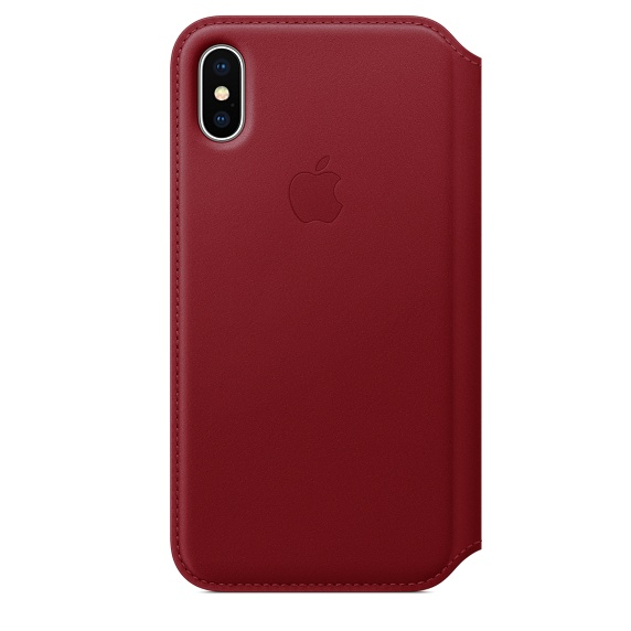 iPhone X Leather Folio - (PRODUCT) RED