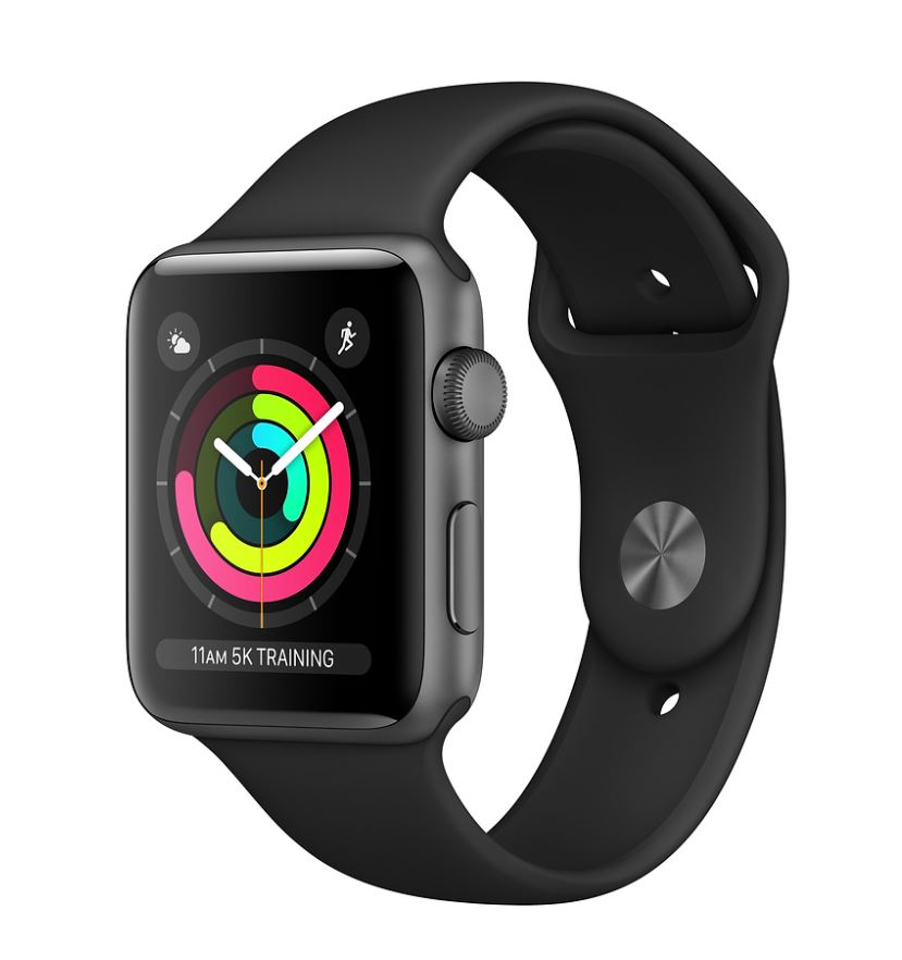 Watch S3, 38mm, Space Gr AC/Black Sport Band