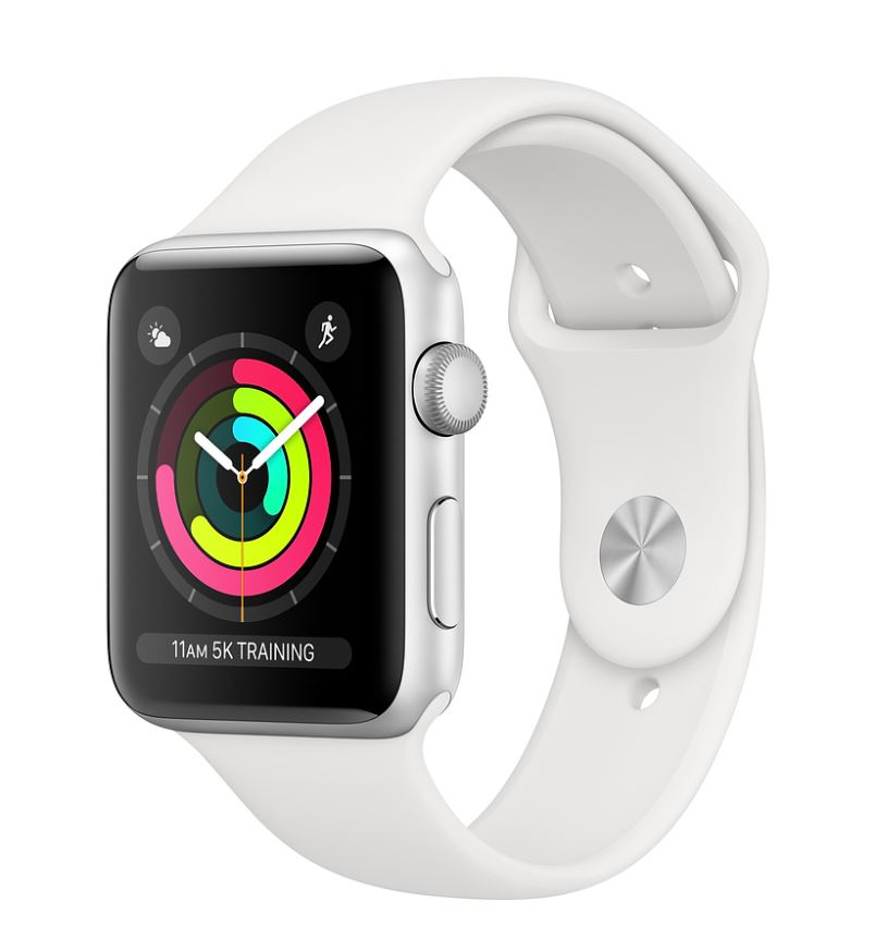 Watch S3, 42mm, Silver AC/White Sport Band - MTF22CN/A