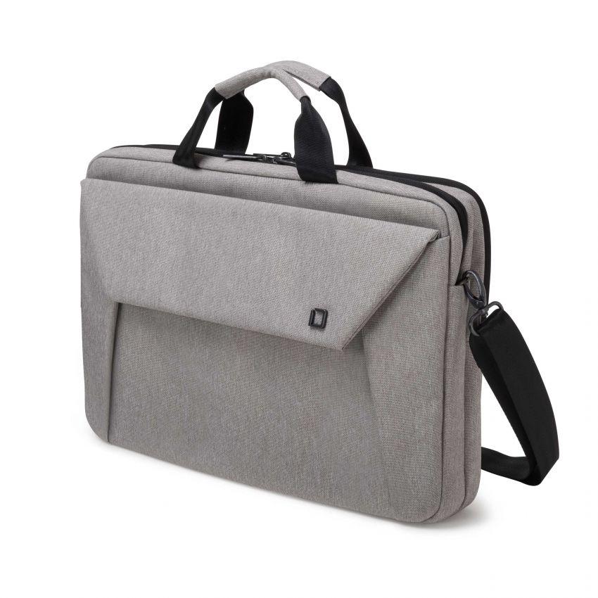 Dicota Slim Case Plus EDGE 14-15.6 light grey