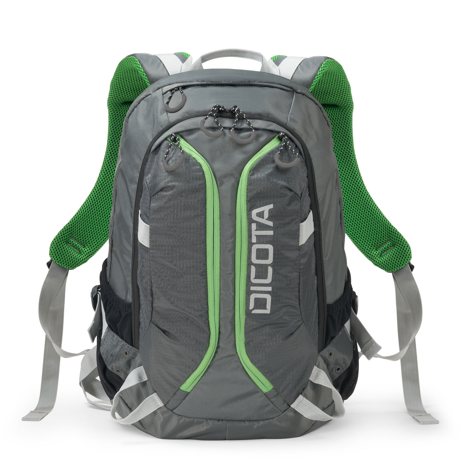 Dicota Backpack Active 14-15.6 grey/lime - D31221