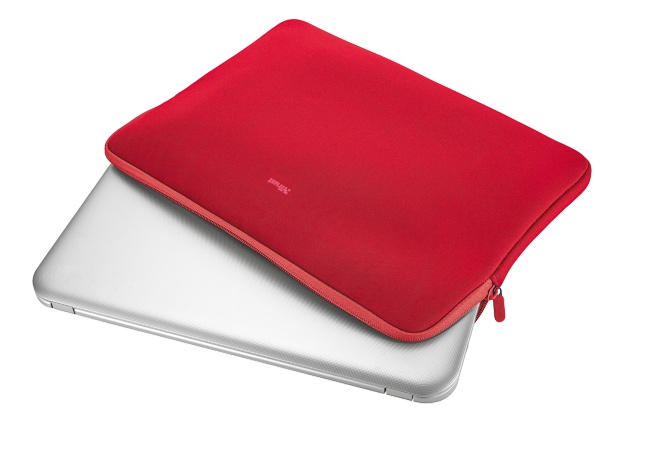 """TRUST Primo Soft Sleeve for 15.6"""" laptops - red"""