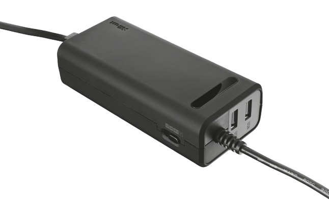 nabíječka TRUST Duo 70W Laptop charger, 2USB