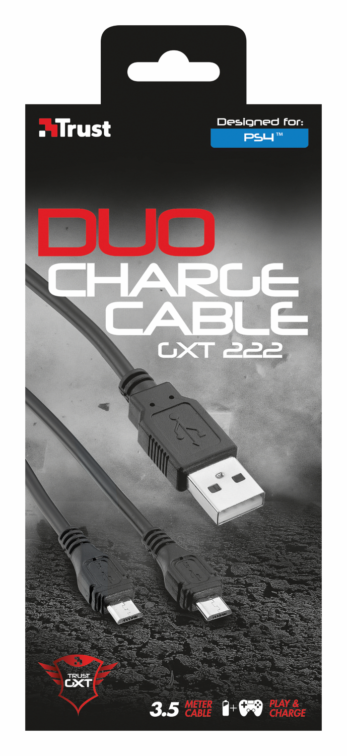 TRUST GXT 222 PS4 Duo Charge & Play Cable