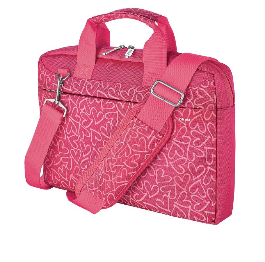 brašna TRUST Bari Carry Bag for 13.3' laptops, pink hearts