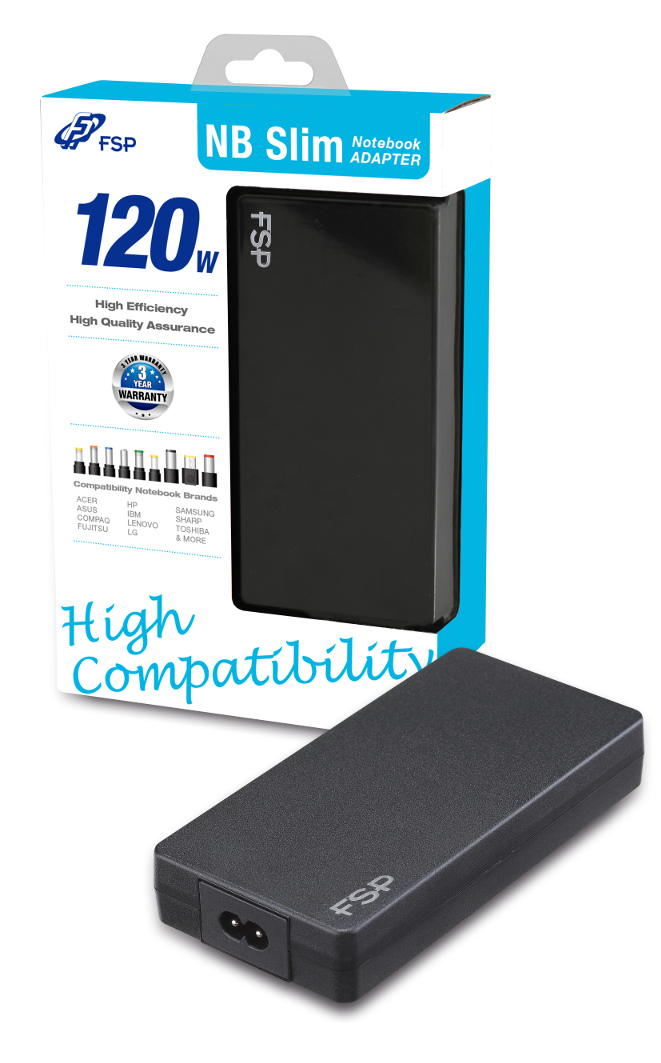FSP/Fortron NB 120 Slim napájecí adaptér k notebooku, 120W, 19V
