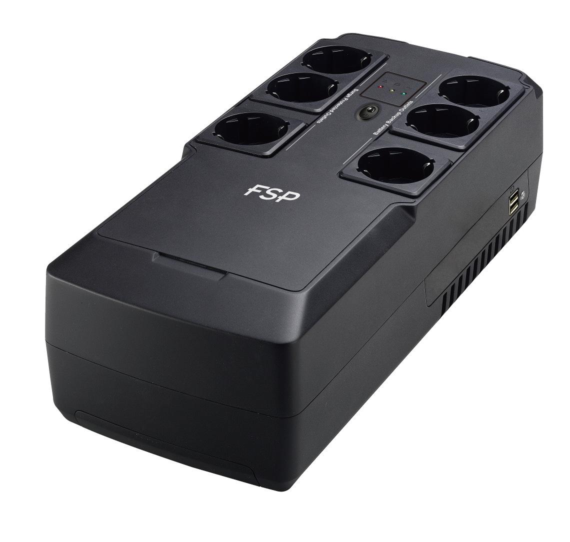 FSP/Fortron UPS NanoFit 600, 600 VA, 2xUSB power, LED, offline - PPF3602301