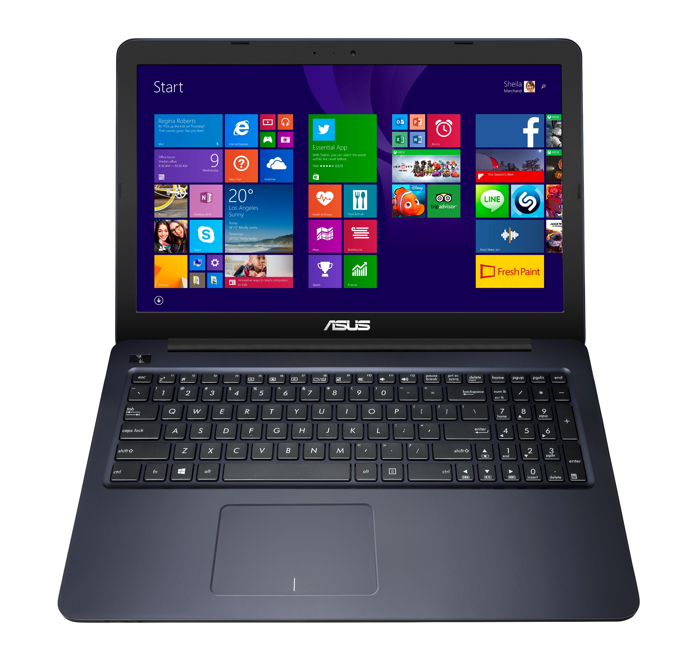 ASUS E502SA 15,6/N3050/500G/4G/Win10, modrá