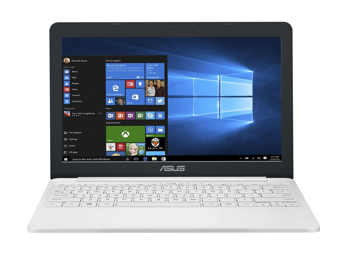 "Asus E203NA 11,6"" HD lesklý Intel Dual-Core Celeron N3350 4GB 32GB eMMC Windows 10 biely"