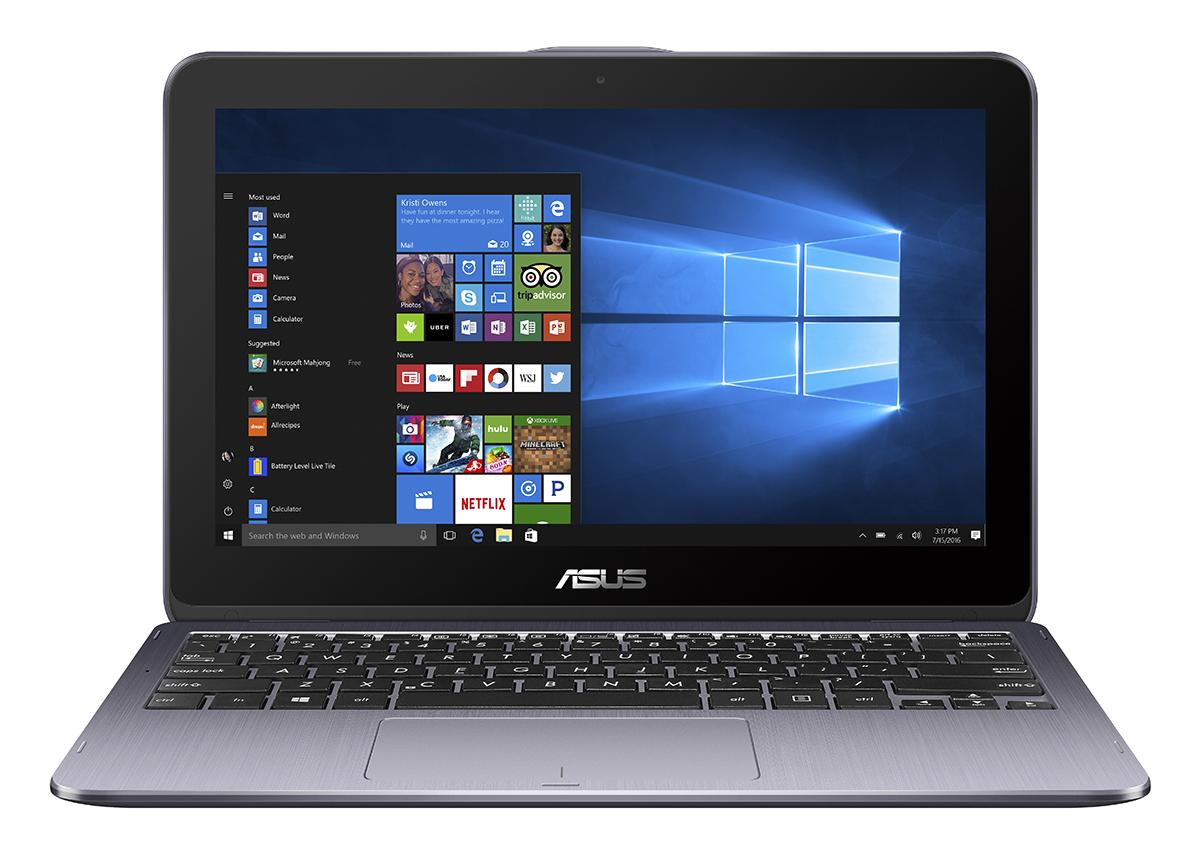 "ASUS TP203NA 11,6"" HD lesk dotyk Intel Dual-Core Celeron N3350 32GB EMMC DDR3 4GB Win 10 čierny"