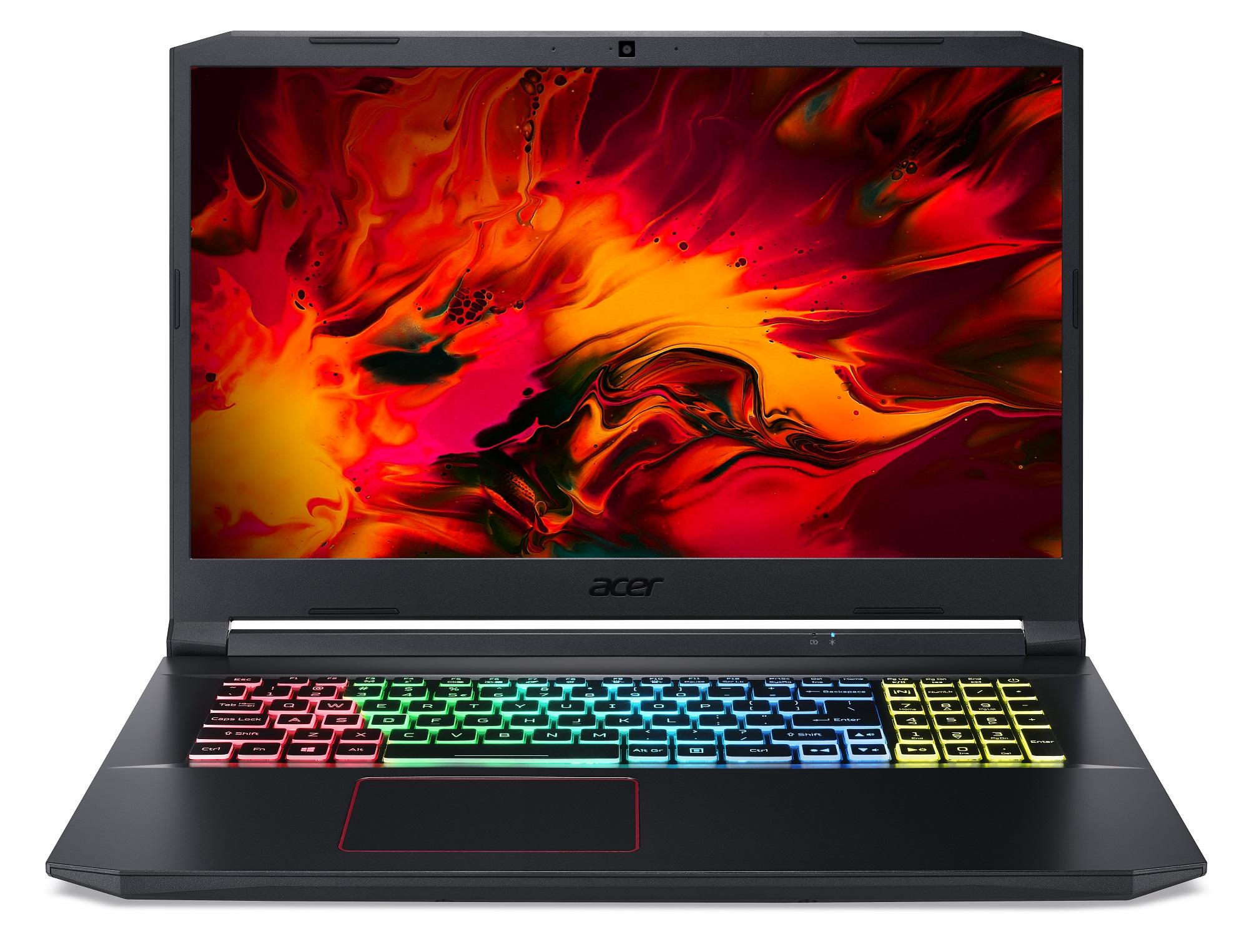 Acer Nitro 5 - 17,3''/R9-5900HX/2*16G/1TBSSD/RTX3080/QHD@165Hz/W10 černý - NH.QBHEC.004