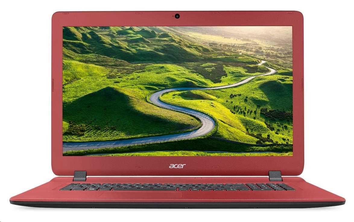 Acer Aspire ES 17 - 17,3''/N3350/4G/1TB/DVD/W10 černo-červený