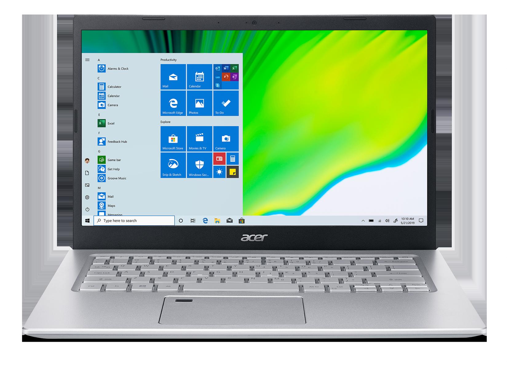 """Acer Aspire 5 - 14""""/i5-1135G7/2*4G/256SSD/W10 stříbrný"""