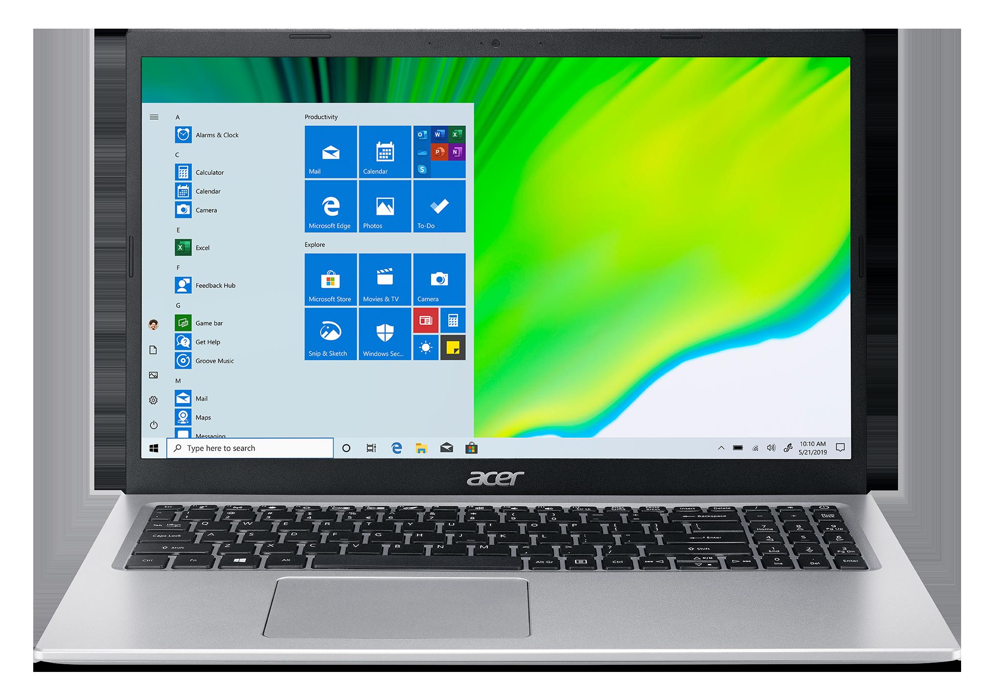 Acer Aspire 5 - 15,6''/i3-1115G4/2*4G/256SSD/W10 stříbrný - NX.A1HEC.008