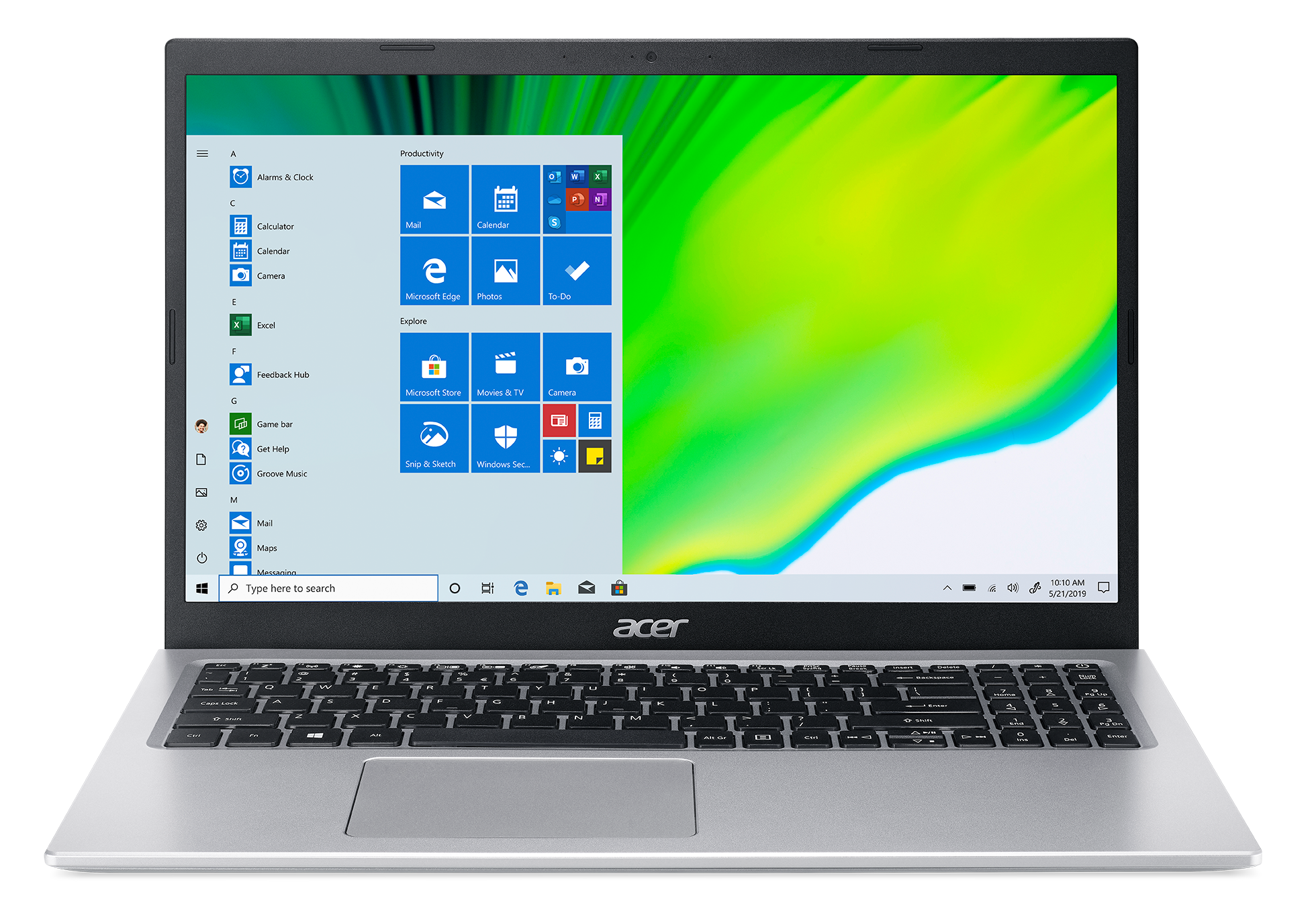 Acer Aspire 5 - 15,6''/i7-1165G7/2*8G/512SSD/W10 stříbrný - NX.A1HEC.007