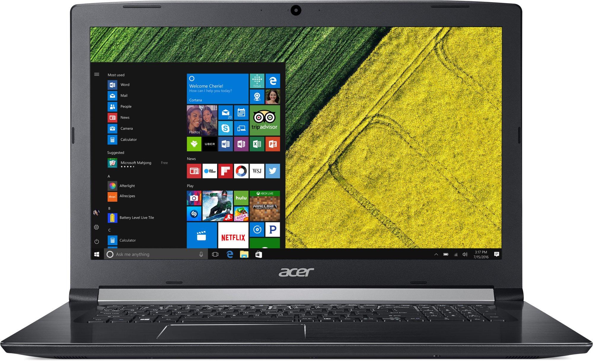 """Acer Aspire 5 - 17,3""""/i7-8550U/4G+8G/128SSD+1TB/MX150/DVD/W10 černý"""