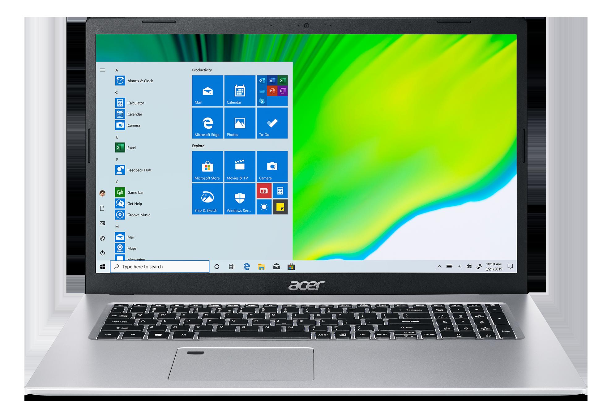 """Acer Aspire 5 - 17,3""""/i7-1165G7/2*8G/512SSD/W11 stříbrný"""