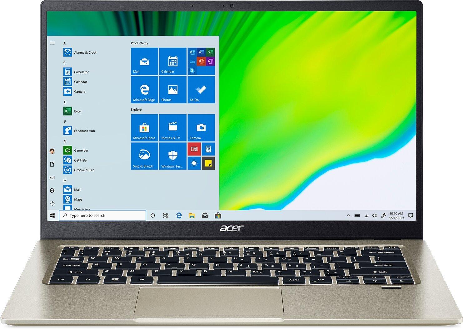 """Acer Swift 1 - 14""""/N5030/8G/256SSD NVMe/IPS FHD/W10 zlatý"""