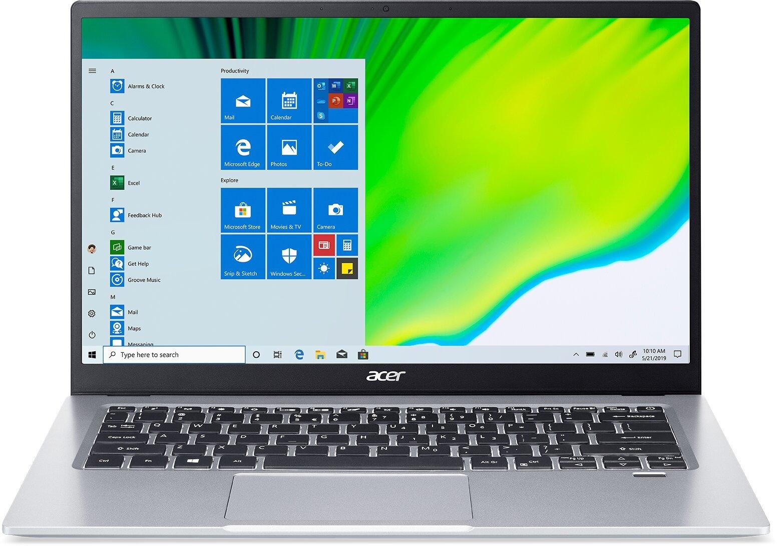 """Acer Swift 1 - 14""""/N5030/8G/256SSD NVMe/IPS FHD/W10 stříbrný"""