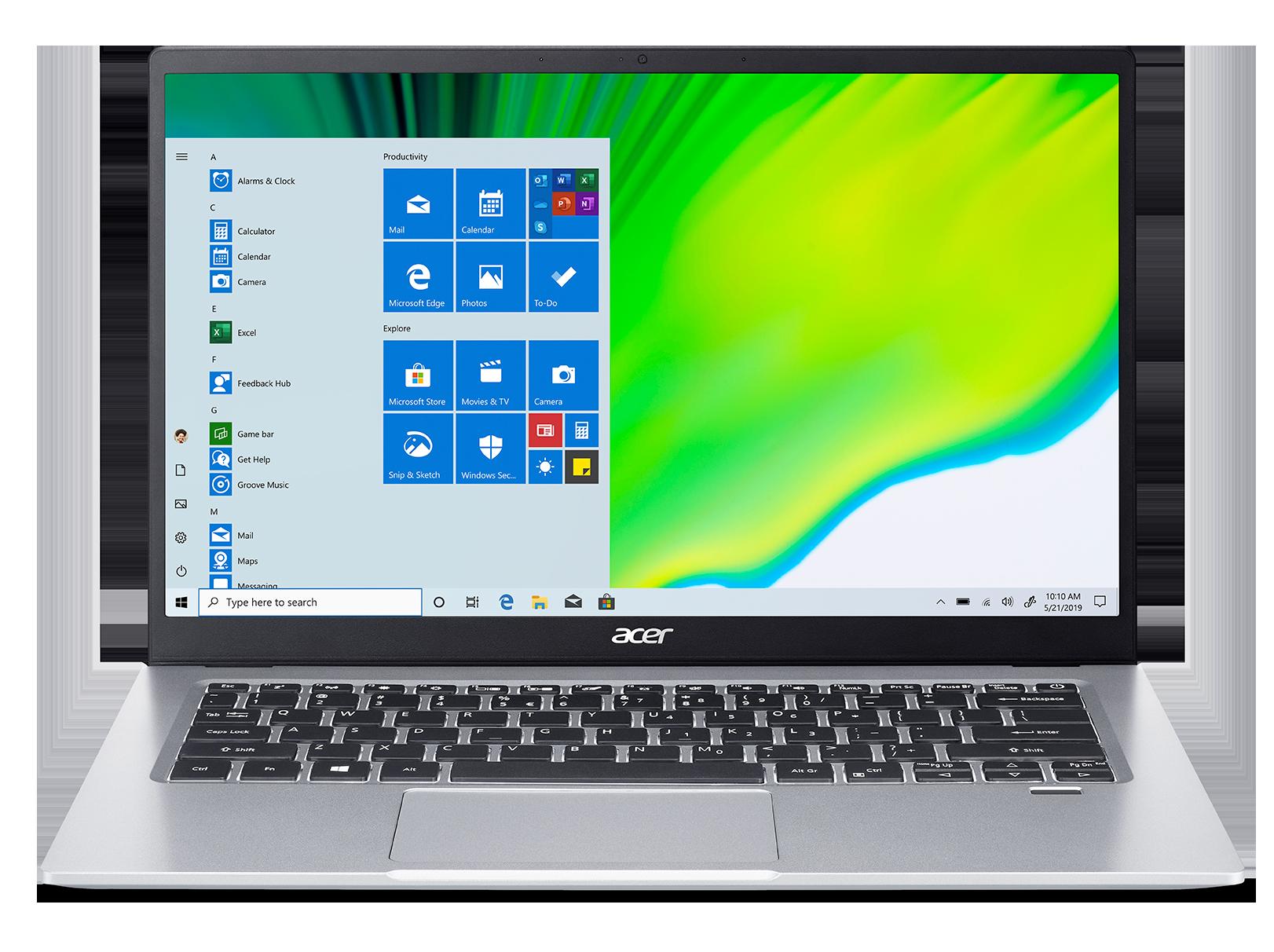 Acer Swift 1 - 14''/N5030/4G/128SSD NVMe/IPS FHD/W10S stříbrný + Microsoft 365 - NX.HYSEC.003