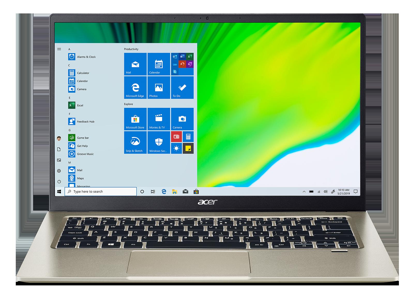 """Acer Swift 1 - 14""""/N5030/4G/128SSD NVMe/IPS FHD/W10S zlatý"""