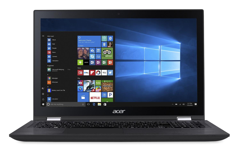 NX.GK9EC.003 Acer Spin 3 15,6/i3-7100U/4G/256SSD/W10 černý