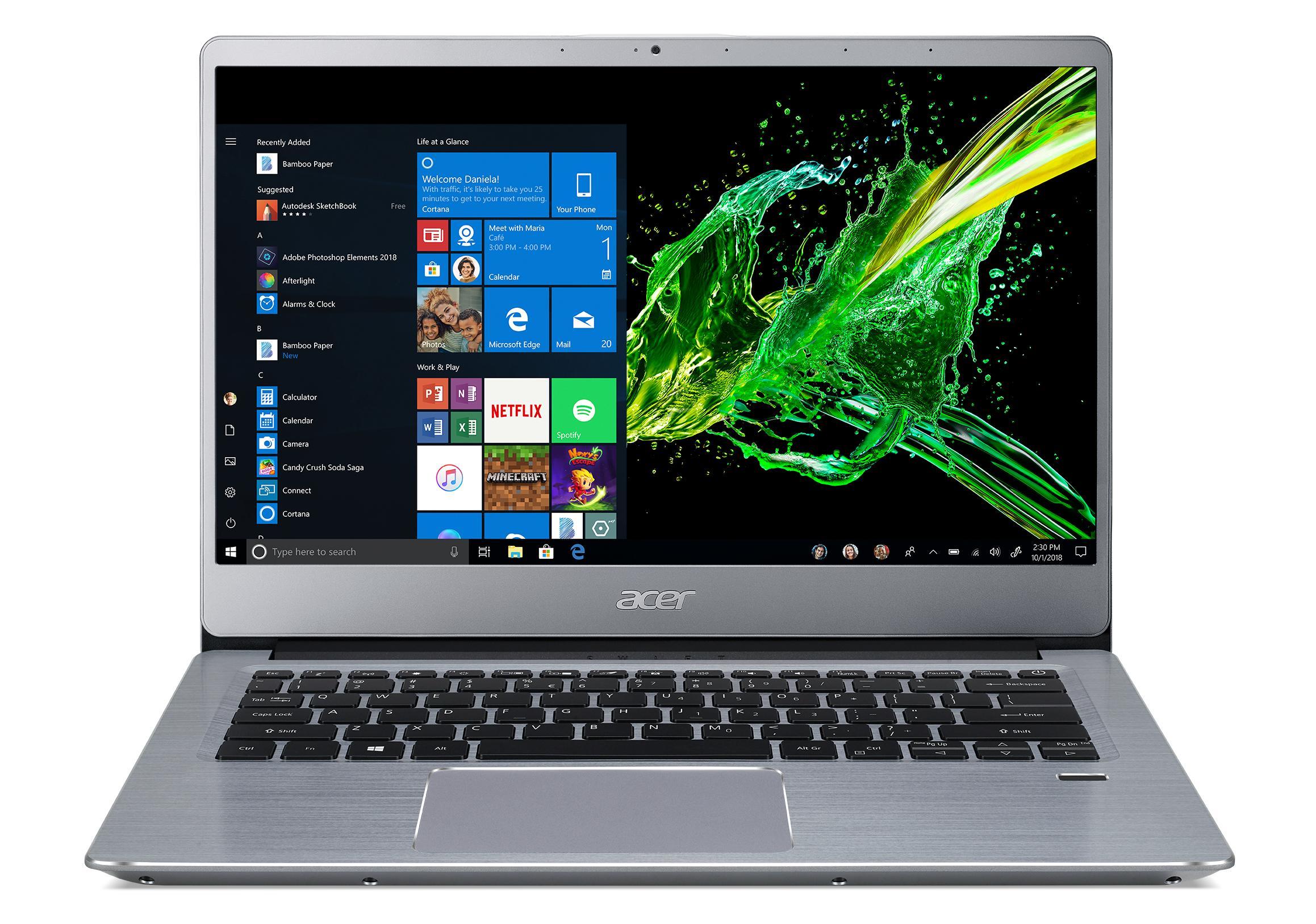 Acer Swift 3 - 14''/R5-3500U/4G+8G/512SSD/R540X/W10 stříbrný - NX.HF0EC.001