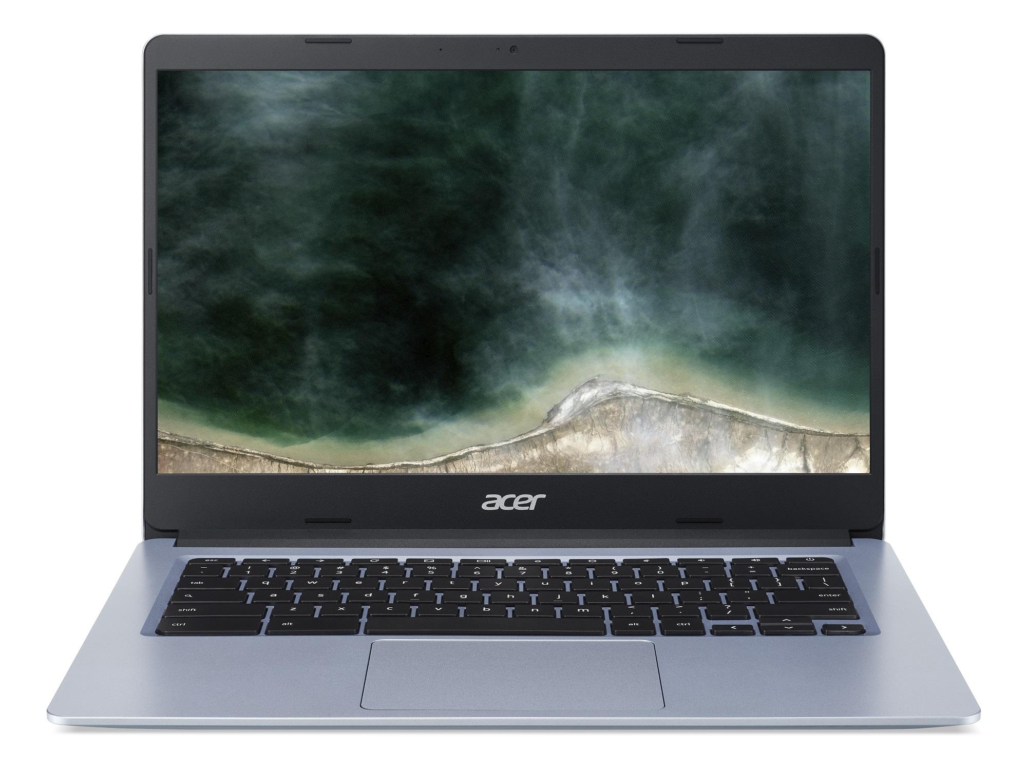 Acer Chromebook 14 - 14''/N4120/4G/128GB/Chrome stříbrný - NX.AUDEC.001