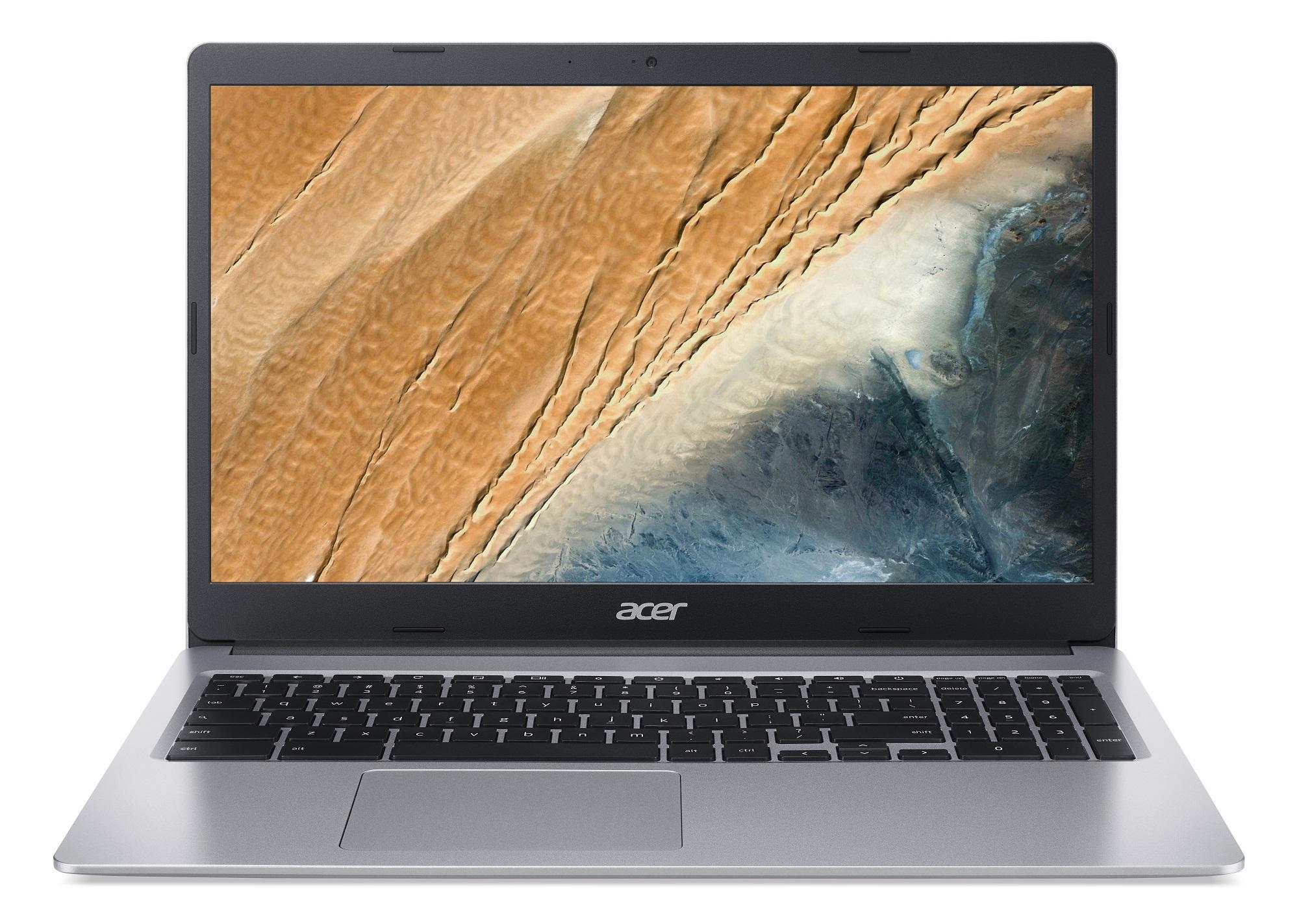 Acer Chromebook 315 - 15,6T''/N4020/4G/128GB/Chrome stříbrný - NX.HKCEC.004