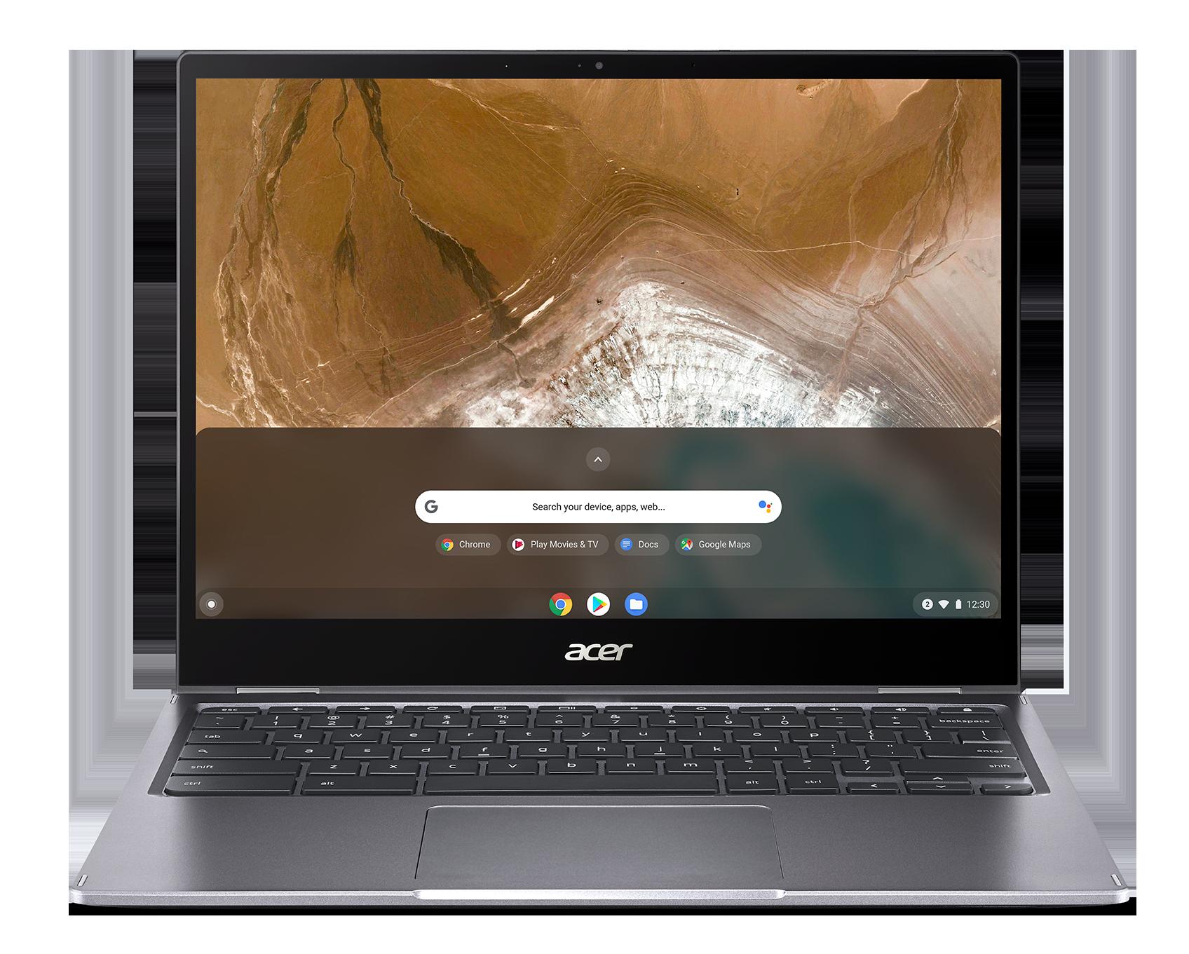 """Acer Chromebook Spin 13 - 13,5T""""/i3-10110U/8G/256SSD/3:2/Chrome šedý"""