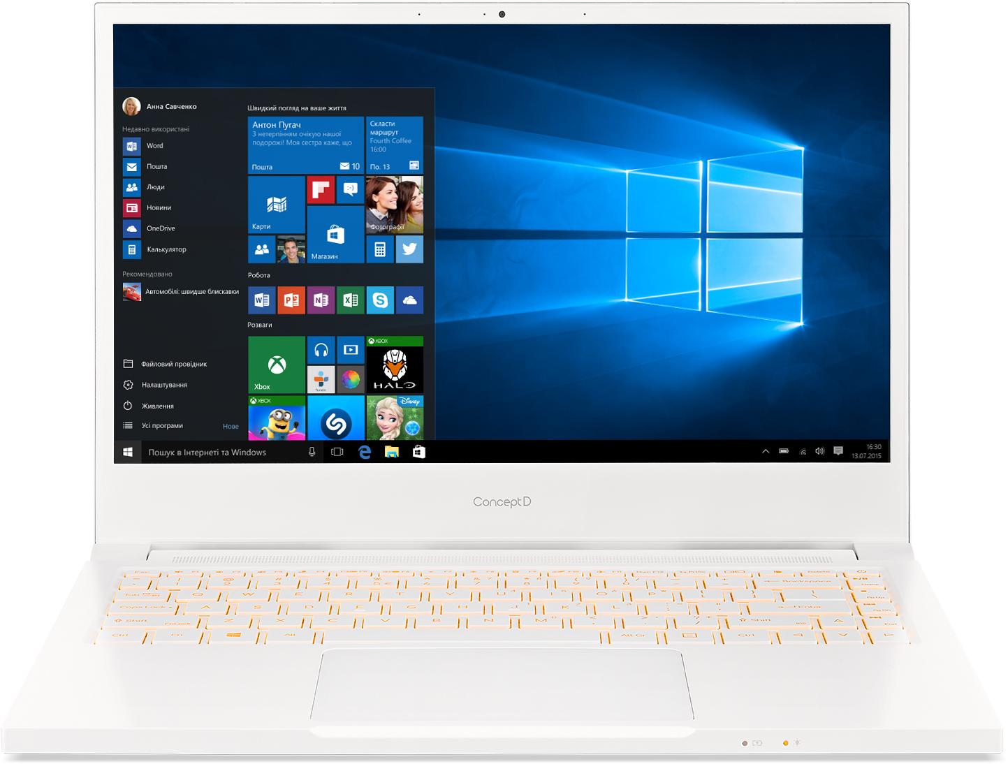 Acer ConceptD 3 (CN314-72) - 14''/i7-10750H/512SSD/16G/W10Pro bílý - NX.C5SEC.005